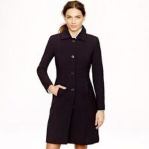 JCrew Italian Double-Cloth Wool Lady Day Coat 0
